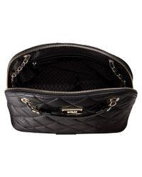 DKNY - Black Gansevoort - Quilted Medium Round Satchel Crossbody W/ Adjustable Chain Handle - Lyst