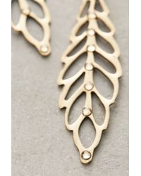 Anthropologie | Metallic Plaisance Leaf Earrings | Lyst