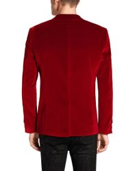HUGO | Red Extra Slim Fit Jacket In Cotton: 'adrison' for Men | Lyst