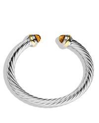 David Yurman | Metallic Cable Classics Bracelet With Citrine And Gold | Lyst