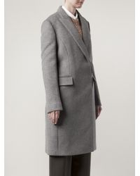 Stella McCartney - Gray Coat with Zip Side Pockets - Lyst