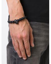 Alexander McQueen | Black Beaded Skull Bracelet | Lyst