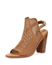 Rag & Bone | Brown Wyatt Perforated Sandal | Lyst