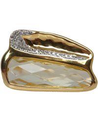Monica Vinader - Metallic Gold Vermeil Riva Diamond Shore Double Ring - Lyst