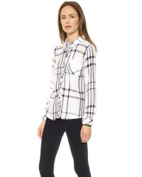 Rails - Hunter Long Sleeve Button Down - Cadet Blue - Lyst