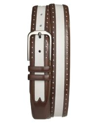 Mezlan - Brown 'umbranil' Belt for Men - Lyst