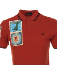 Fred Perry | Red X Margate Paddy Patch Polo T Shirt for Men | Lyst