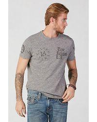 True Religion | Gray True Crew Mens T-shirt for Men | Lyst