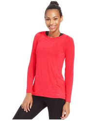 Calvin Klein | Red Performance Pleated-back Top | Lyst