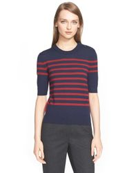 Erdem - Blue Wool & Cashmere Stripe Sweater - Lyst
