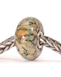 Trollbeads | Black Flower Mosaic Glass Charm Bead | Lyst