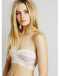 Free People | Pink Deep In The Dark Bandeau | Lyst