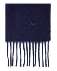 Howick | Blue Classic Lambswool Scarf for Men | Lyst