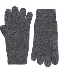 Ralph Lauren | Gray Merino Wool Gloves for Men | Lyst
