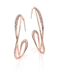 Alexis Bittar | Pink Miss Havisham Crystal Orbit Hoop Earrings/2.35 | Lyst