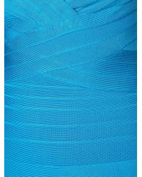 Hervé Léger - Blue Flared Bandage Dress - Lyst