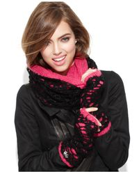 Betsey Johnson | Pink Lacy Knit Infinity Loop | Lyst