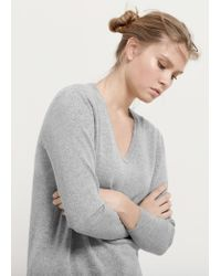 Violeta by Mango | Gray 100% Cashmere Sweater | Lyst