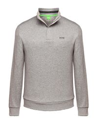 BOSS Green | Gray Sweatshirt: 'sweat' In Cotton Blend for Men | Lyst