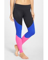 Onzie - Black Colorblock Track Leggings - Lyst