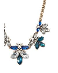 Forever 21 | Blue Rhinestone Curb Chain Necklace | Lyst