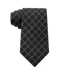 DKNY | Black Graphic Grid Slim Tie for Men | Lyst