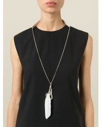 Ann Demeulemeester | Metallic Feather Necklace | Lyst