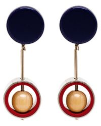 Marni | Blue Drop Clip-On Earrings | Lyst