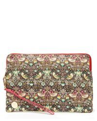 Mi-Pac - Pink Strawberry Thief Printed Small Clutch Bag - Lyst