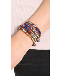 Chan Luu | Multicolor Lapis Beaded Wrap Bracelet | Lyst
