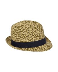 Ben Sherman | Black Straw Trilby Hat for Men | Lyst