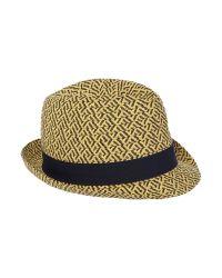 Ben Sherman - Black Straw Trilby Hat for Men - Lyst