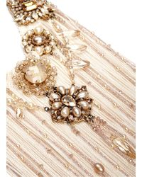 Erickson Beamon | Metallic 'stratosphere' Pearl Crystal Fringe Bead Necklace | Lyst