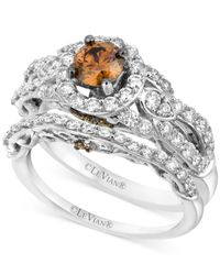 Le Vian | Metallic Chocolate Diamond (1-1/2 Ct. T.w.) Engagement Ring Set In 14k White Gold | Lyst
