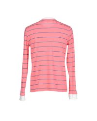 Band of Outsiders - Pink Striped Long-Sleeved T-Shirt for Men - Lyst