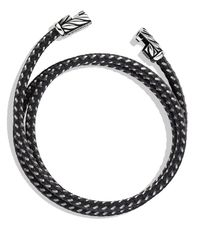 David Yurman | Metallic Chevron Triple-wrap Bracelet In Gray for Men | Lyst
