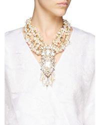 Erickson Beamon - White ''pearl Jam' Faux Pearl Crystal Drop Necklace - Lyst