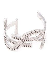 Saint Laurent   Metallic 'Monogram' Bracelet   Lyst
