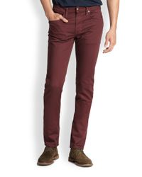 Joe's Jeans - Red Slimfit Twill Pants for Men - Lyst