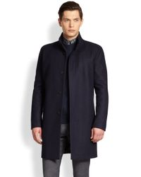 Theory - Blue Belvin Topcoat for Men - Lyst