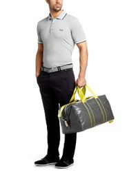BOSS Green - Gray 'permot' | Weekender Bag With Detachable Shoulder Strap for Men - Lyst
