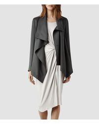 AllSaints - Gray Aiko Monument Jacket Usa Usa - Lyst