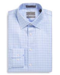 John W. Nordstrom - Blue Trim Fit Non-iron Check Dress Shirt for Men - Lyst