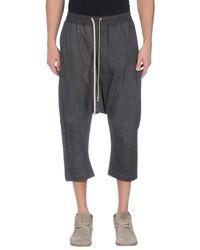 Rick Owens - Black 3/4-length Trousers for Men - Lyst