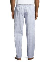 Ike Behar - Blue Check Lounge Pants for Men - Lyst