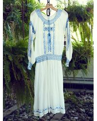 Free People - Natural Womens Vintage 1940S Peasant Dress - Lyst
