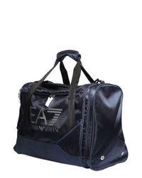 EA7 | Blue Nylon Canvas Duffle Bag | Lyst