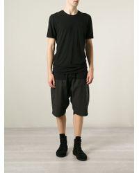 Lost & Found - Black Rolled Hem T-Shirt for Men - Lyst