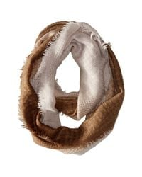 Michael Stars | Brown Textured Frontier Eternity Scarf | Lyst