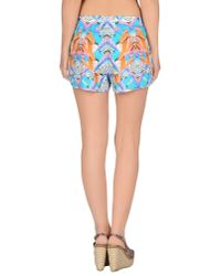 Marcelo Burlon - Blue Beach Trousers - Lyst